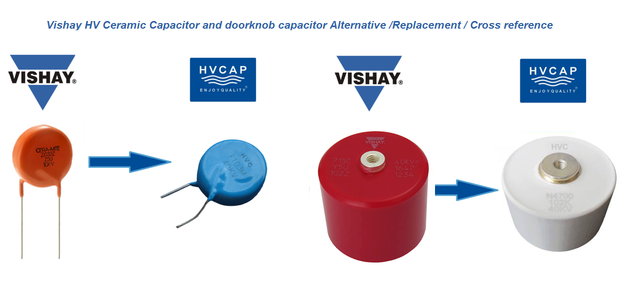 Alternative Replacement Cross Reference for Vishay High Voltage Ceramic Disc Capacitor & Doorknob Ceramic Capacitor