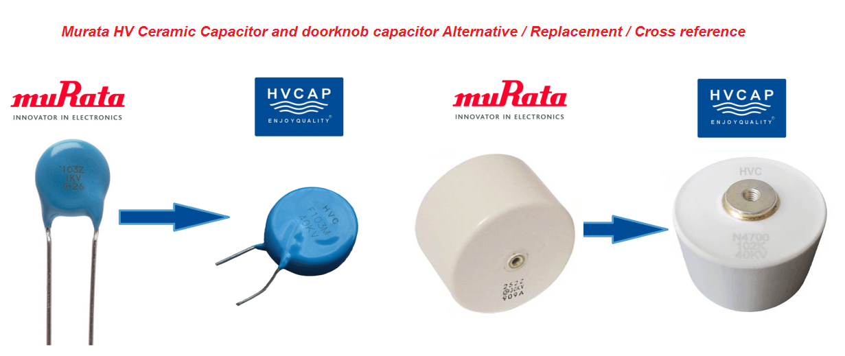 Alternative Replacement Cross Reference for Murata High Voltage Lead Type and Screw Terminal Type Ceramic Capacitor