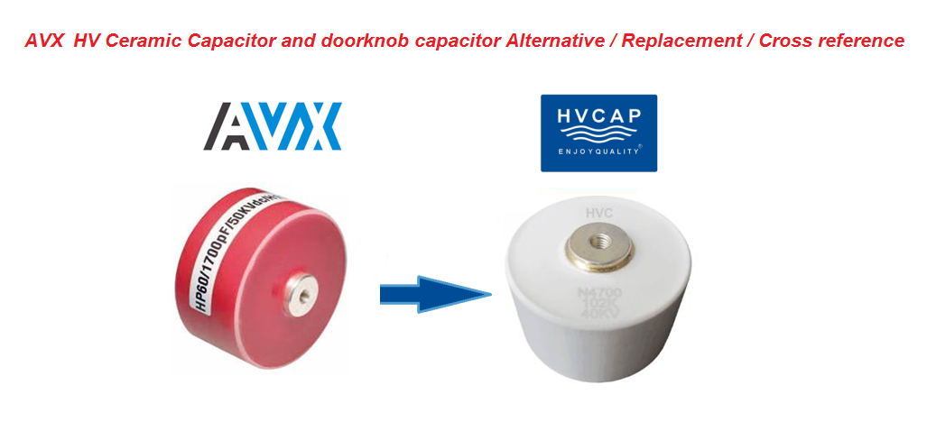 Alternative Cross Reference Replacement for AVX Doorknob Capacitor HP / HW / HK / HD / HE / HZ