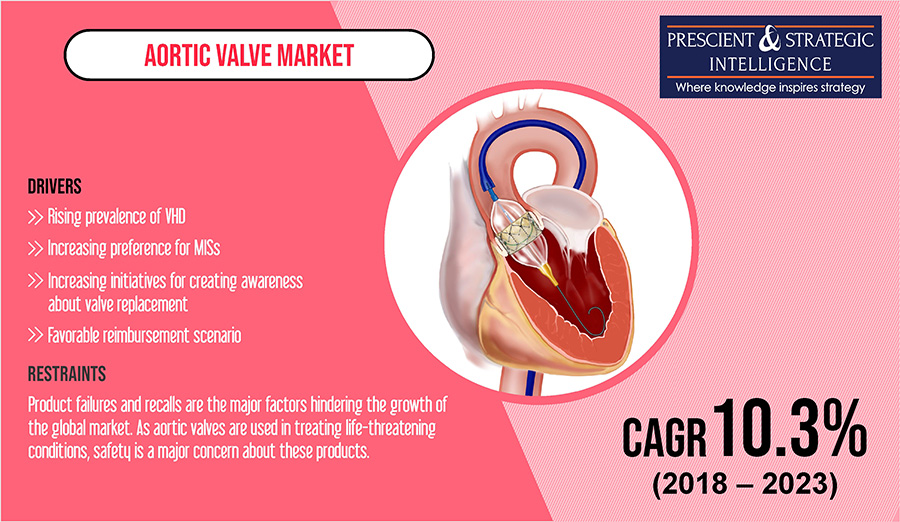 Rising Prevalence of Valvular Heart Disease (VHD) the Key Driver of Aortic Valve Market