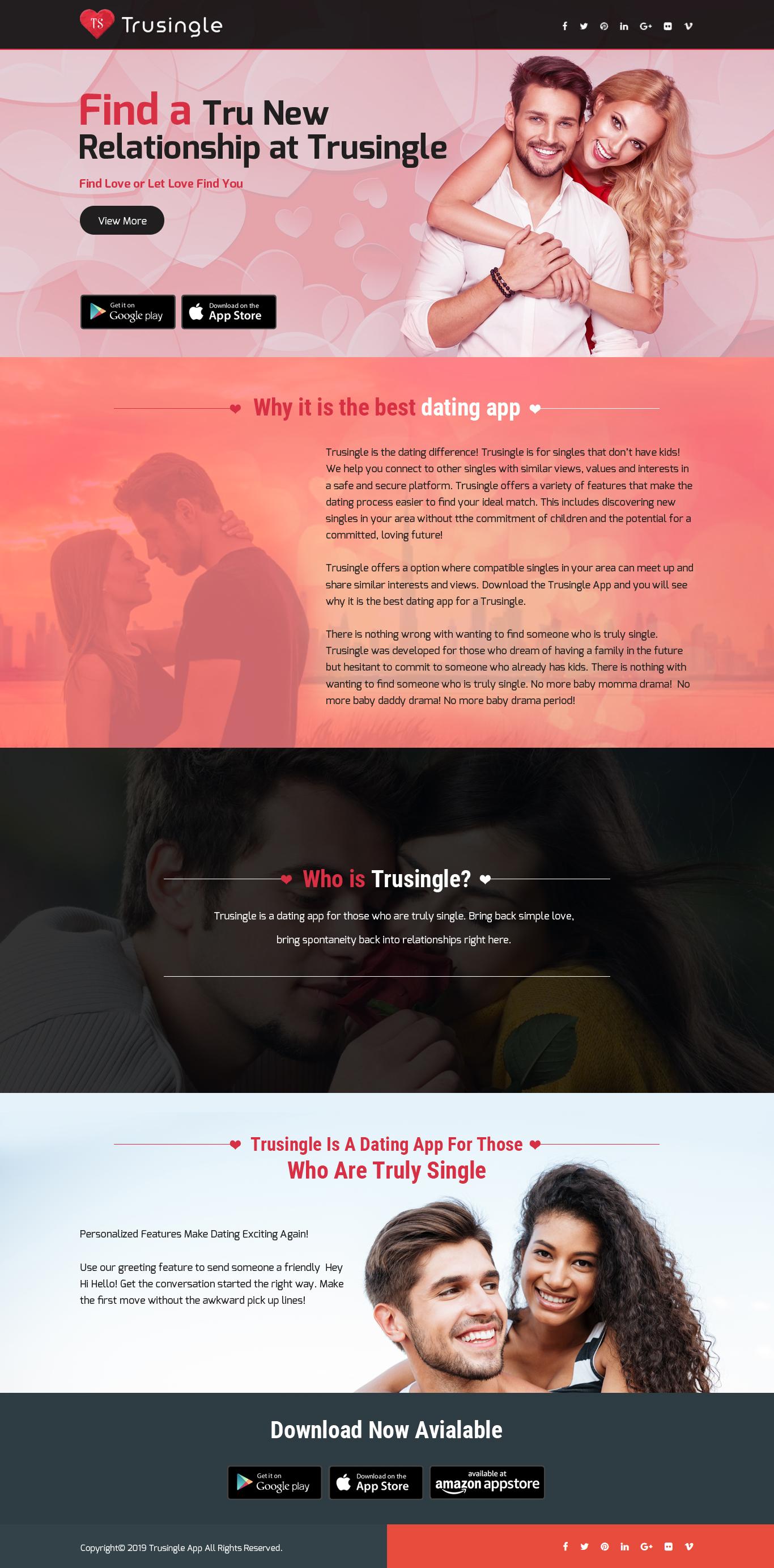 Trusingle – Find Tru Love or Let Tru Love Find You – ABNewswire