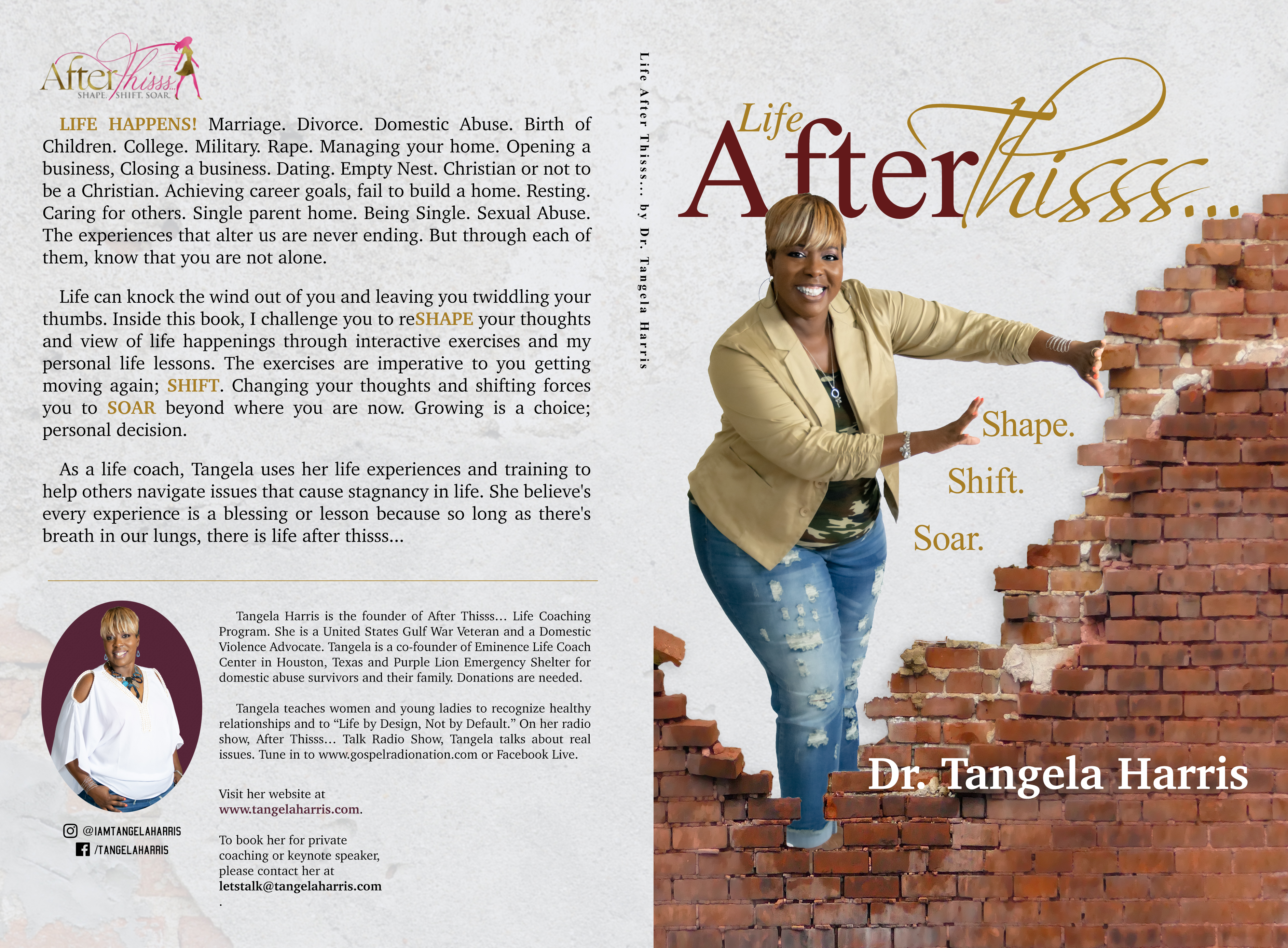 Dr Tangela Harris announces the launch of her new book titled: There is Life After Thisss…