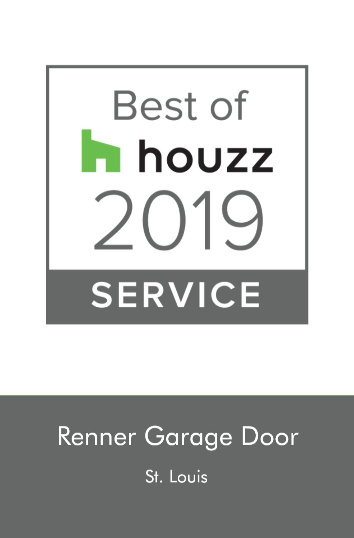 Renner Garage Door of St. Louis Awarded Best Of Houzz 2019