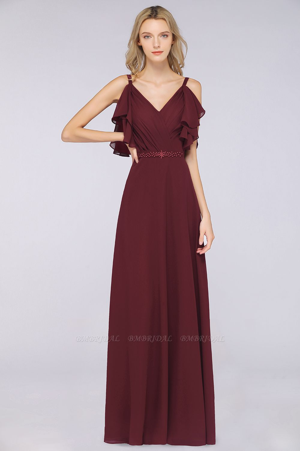 The New Fashion For Modern Weddings: Burgundy Bridesmaid Dresses