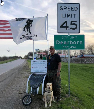 Veteran And Service Dog Walk Cross Country Raising Awareness for Wounded Warrior Project