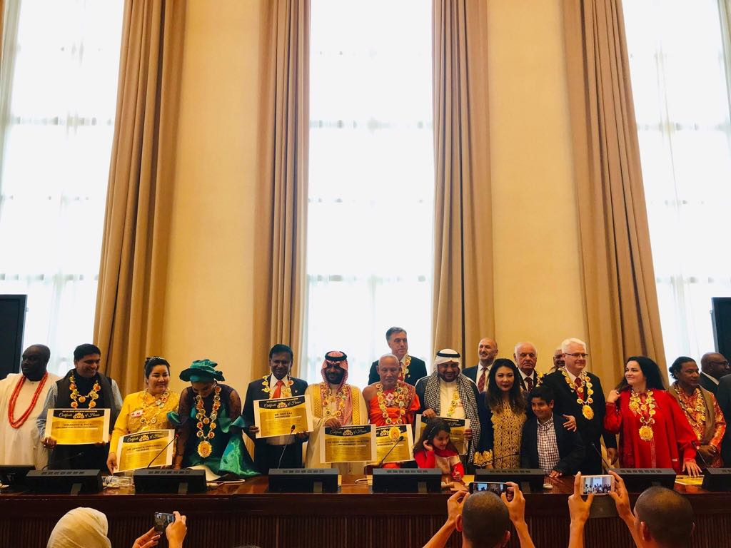 7th G.O.D. Awards' World Leaders, Dignitaries and Royals' Meet in UN Geneva Raised Gigantic Charity Partnerships and Funds for Vanuatu Hospitals