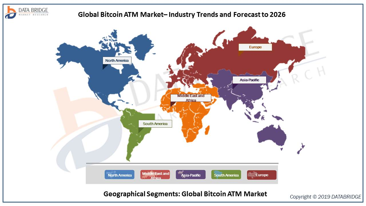 Bitcoin ATM Market is registering value of USD 147.9 million in the forecast period of 2019-2026 with a healthy CAGR of 56.9%