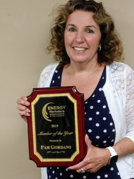 Townsend Energy's Pam Giordano Receives Member Of The Year Award At The Energy Marketers Association of New Hampshire