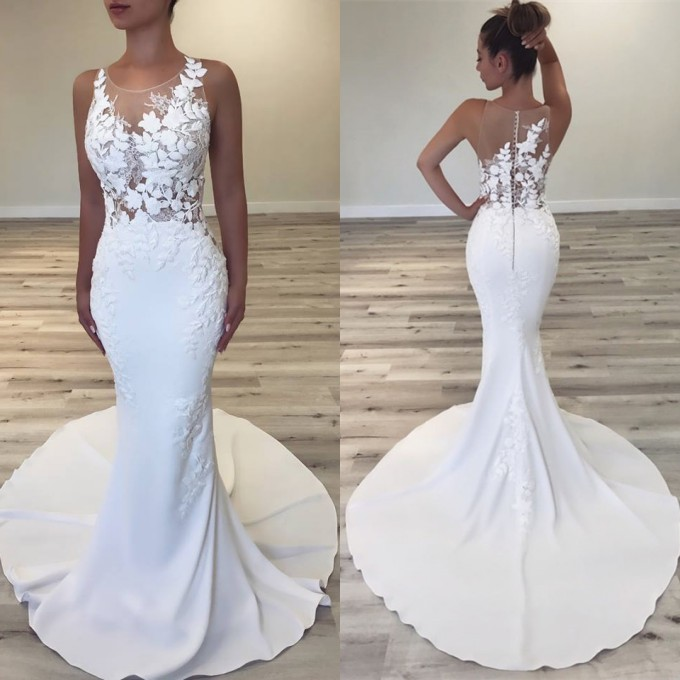 Select A Special Design Mermaid Wedding Dress At 2019 Wedding