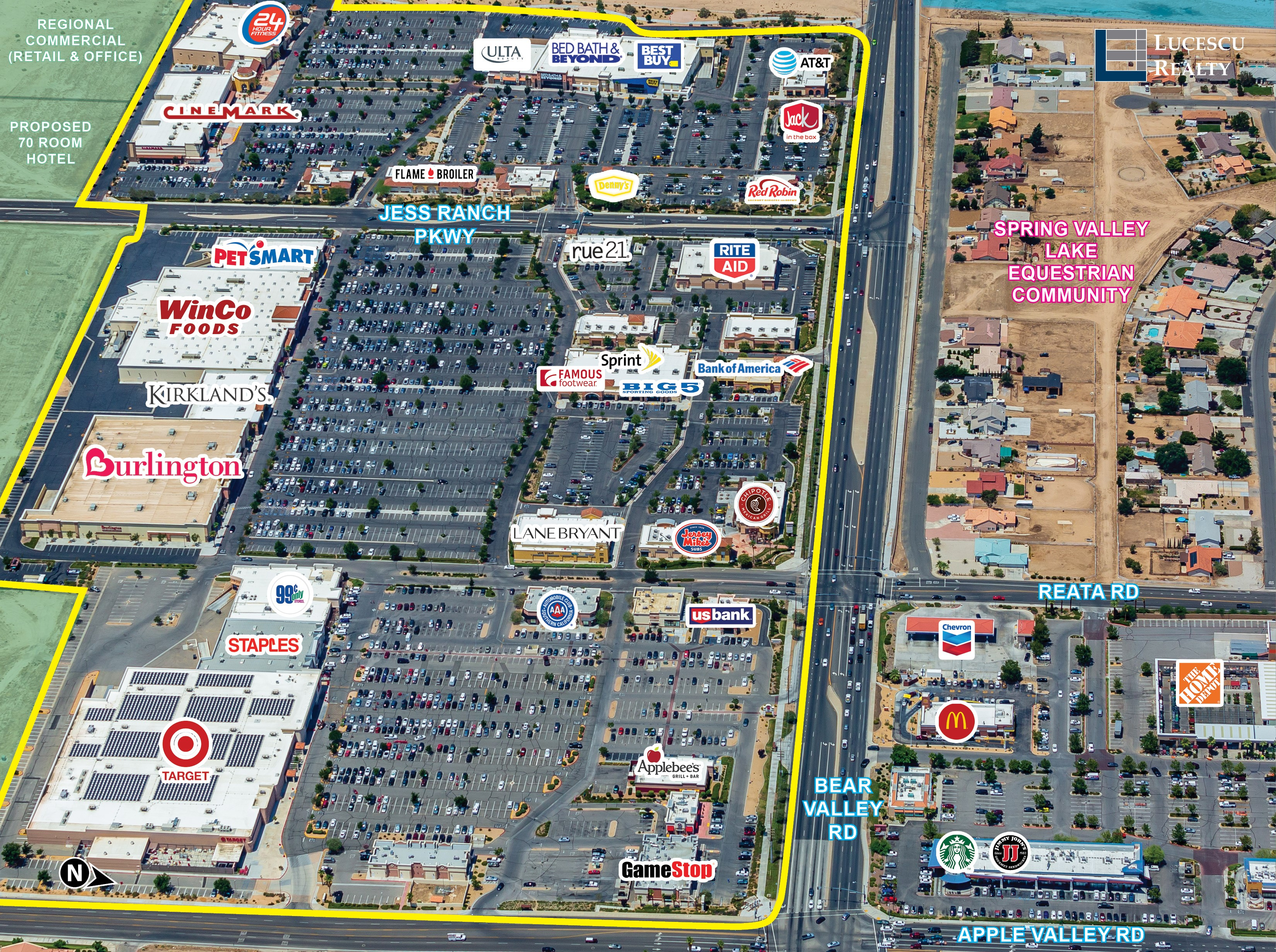 LUCESCU REALTY Announces Sale of Jess Ranch Marketplace in Apple Valley (Inland Empire), CA for $89.0 Million