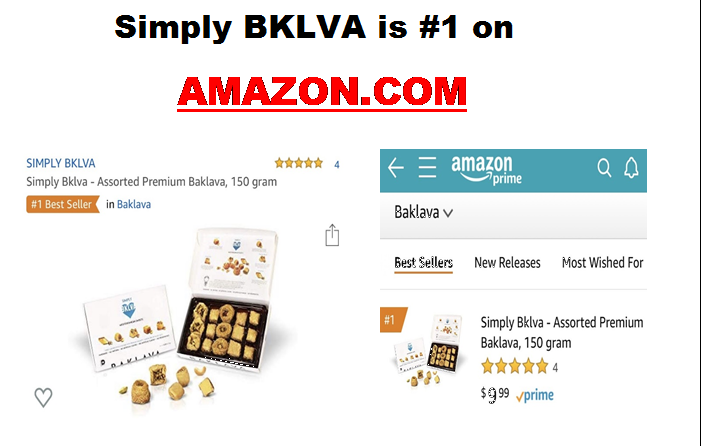 Official Release: Simply BKLVA is the #1 Best Seller in Baklava on Amazon