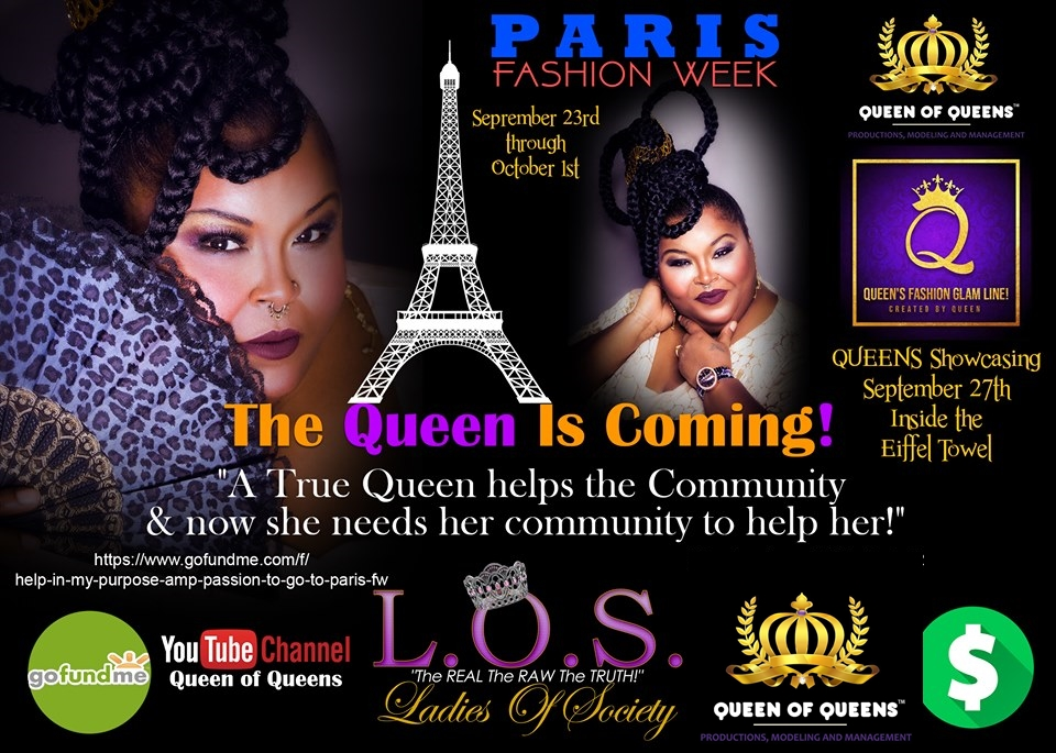 Famed International Fashion Designer Queen Lea' Gardner, creative designer of Queen's Fashion Glam Line to be Showcased at Paris City Fashion Week on 27th September, 2019