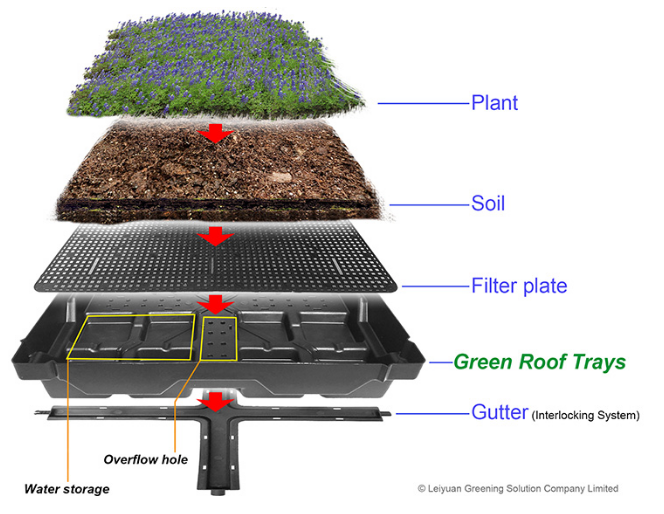 Green Roof Trays - Simple And Effective Way of Roof Maintenance And Repair