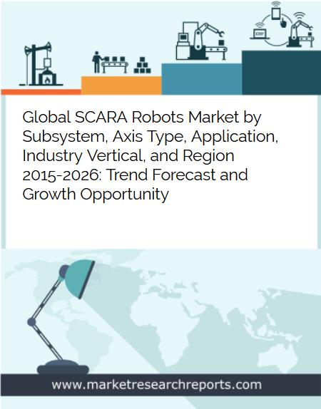 Global SCARA Robots Market to Reach USD 7.66 Billion by 2026 in terms of Robot Systems; Finds New Report