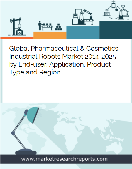 Global pharmaceutical and Cosmetics Industrial Robots Market to Reach USD 1329.8 Million by 2025 in terms of Robot Systems; Finds New Report