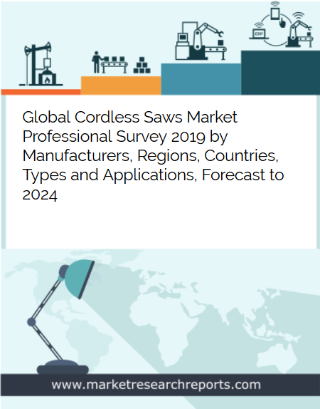 Global Cordless Saws market is growing at a CAGR of 4.47% and expected to reach USD 1122.59 Million by 2024 from USD 863.52 Million in 2018