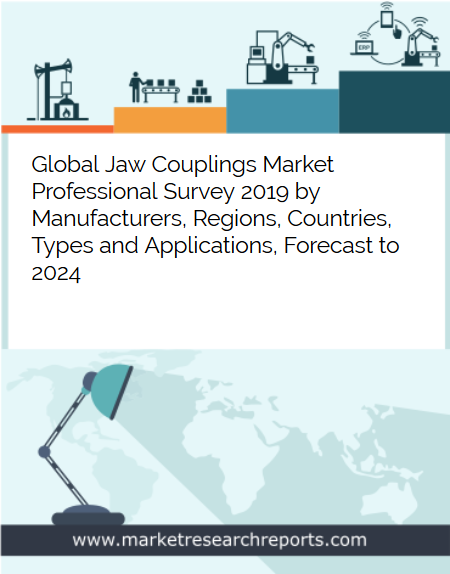 Global Jaw Couplings market is growing at a CAGR of 3.44% and expected to reach USD 887.33 Million by 2024 from USD 724.36 Million in 2018