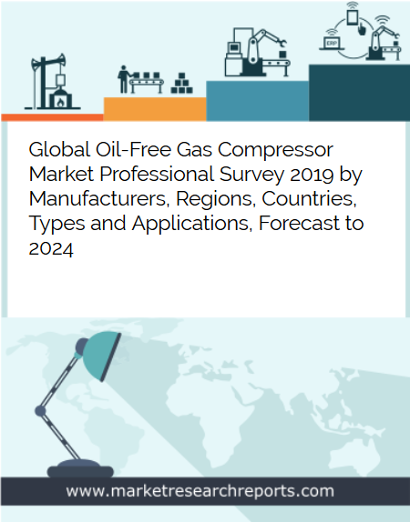 Global Oil Free Gas Compressor Market is growing at a CAGR of 4.63% and expected to reach USD 7.04 Billion by 2024 from USD 5.37 Billion in 2018