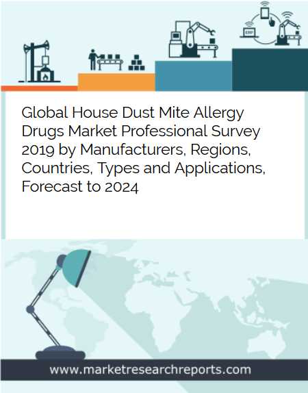 Global House Dust Mite Allergy Drugs Market is growing at a CAGR of 4.86% and expected to reach USD 403.41 Million by 2024 from USD 303.45 Million in 2018