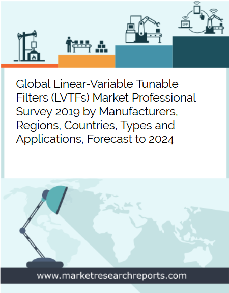 Global Linear-Variable Tunable Filters (LVTFs) Market is growing at a CAGR of 6.76% and expected to reach USD 212.50 Million by 2024 from USD 143.52 Million in 2018
