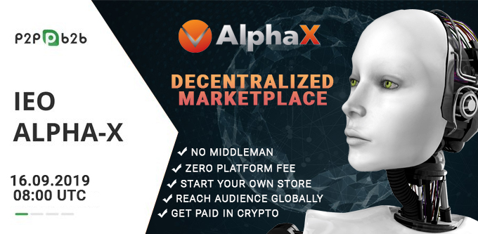 Alpha X - A e-commerce platform with completely decentralized system