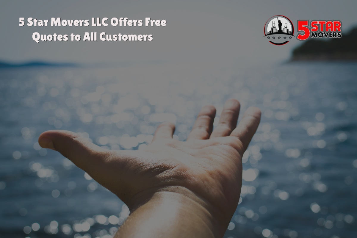 5 Star Movers LLC Offers Free Quotes to All Customers
