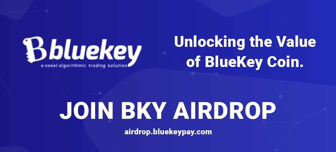 BKY Airdrop goes Live, Unlock the value of Bluekey Coin