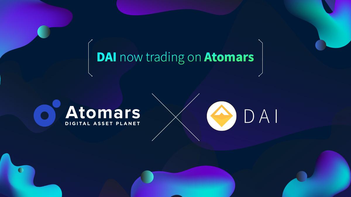 Dai (DAI) Gets Listed on Atomars