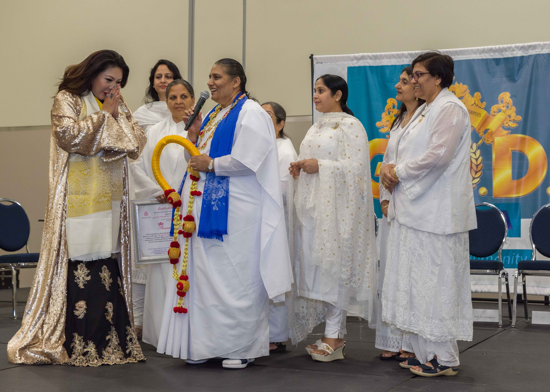 Sultana of Mindanao & G.O.D. Chairman Bestowed as Princess of Humanity by Brahma Kumaris