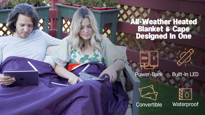 V-Blanket - the world\'s first portable battery-powered heated blanket goes live on Kickstarter.com