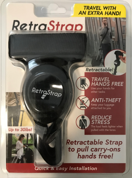 Retra Products LLC, is granted its utility patent for RetraStrap. The Travel Accessory To Tow Carry On Luggage