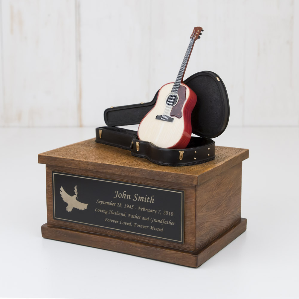 Perfect Memorials Develops Small Acoustic Guitar Cremation Urn