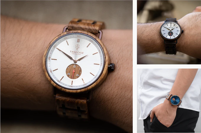 Treecise launches a Kickstarter campaign for their Steel-Wood Watch collection
