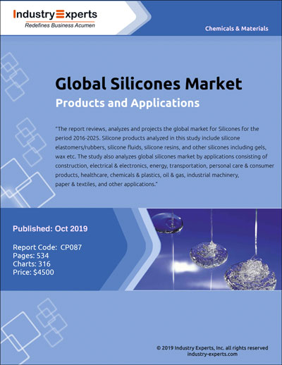 Global Silicones Market is Projected to Exceed 3 Million Metric Tons by 2025 - Market Report (2019-2025) by Industry Experts, Inc.