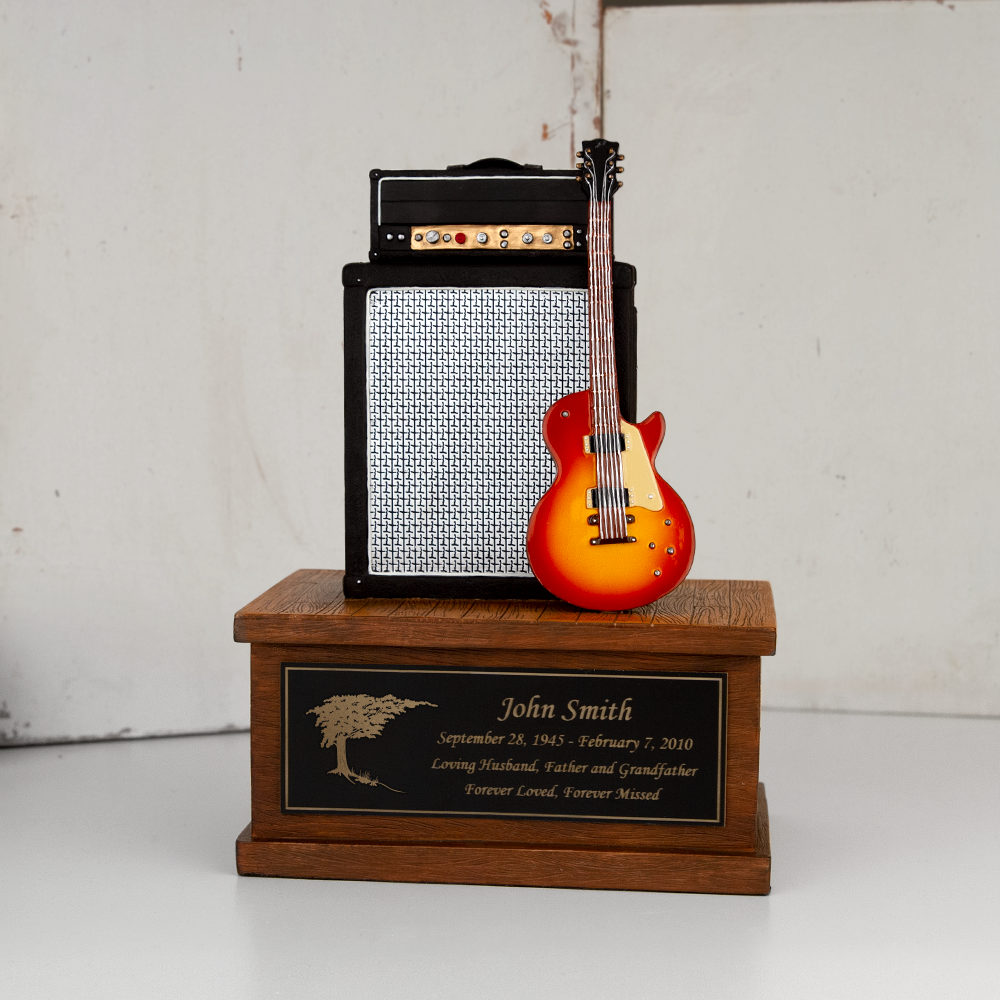 Perfect Memorials Releases Small Electric Guitar Cremation Urn