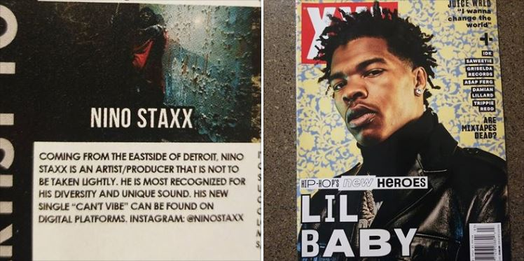 Nino Staxx Featured in XXL Magazine as an Artist to Watch