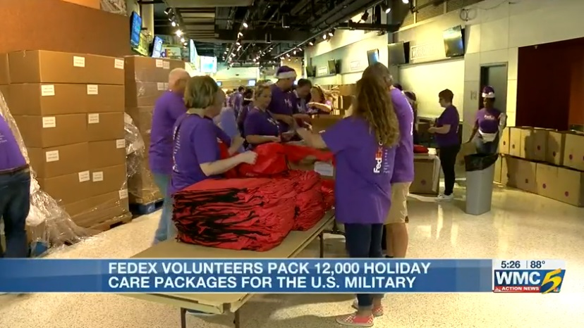 The FedEx Foundation distributing 12,000 holiday packages to service members overseas