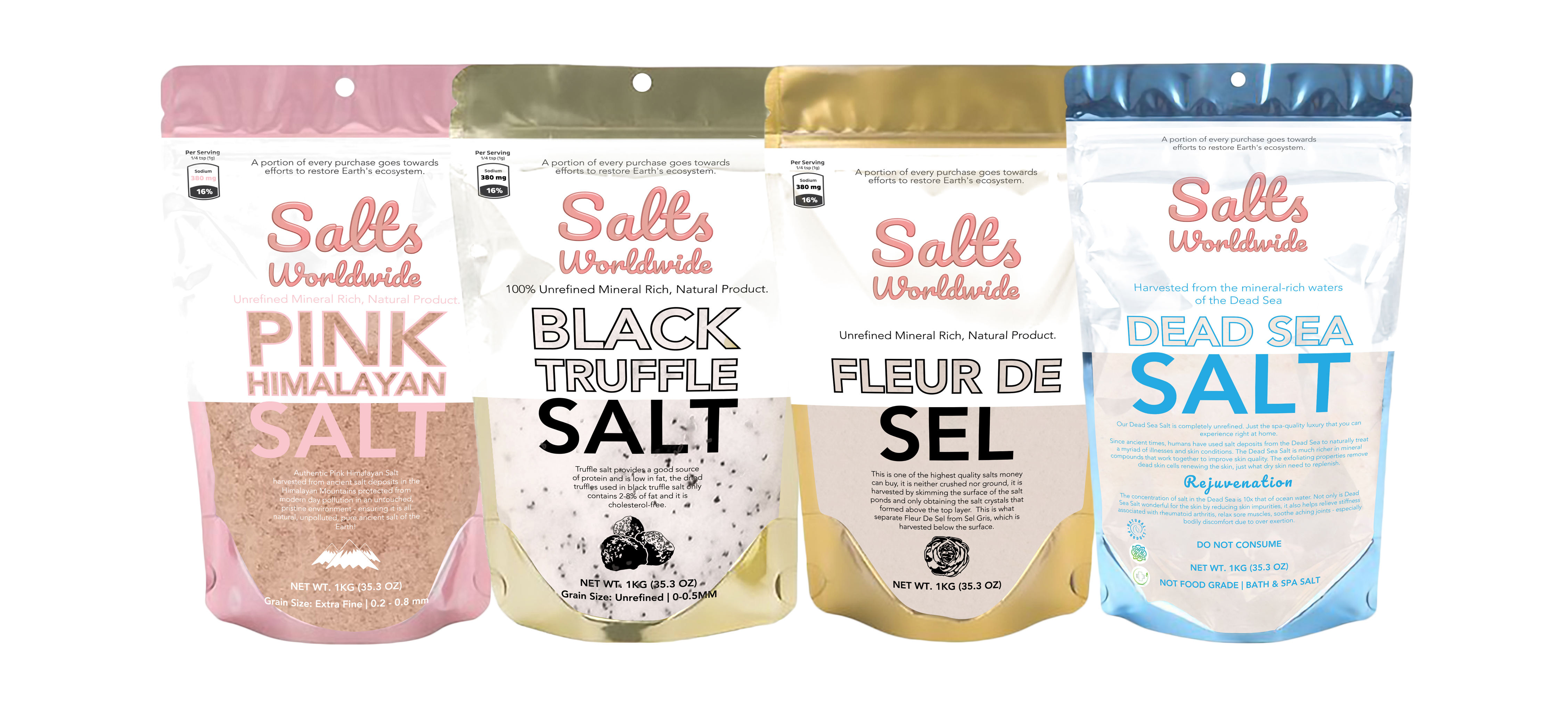 Salts Worldwide Now Offers Dead Sea Salt In 1 Kilogram Packages