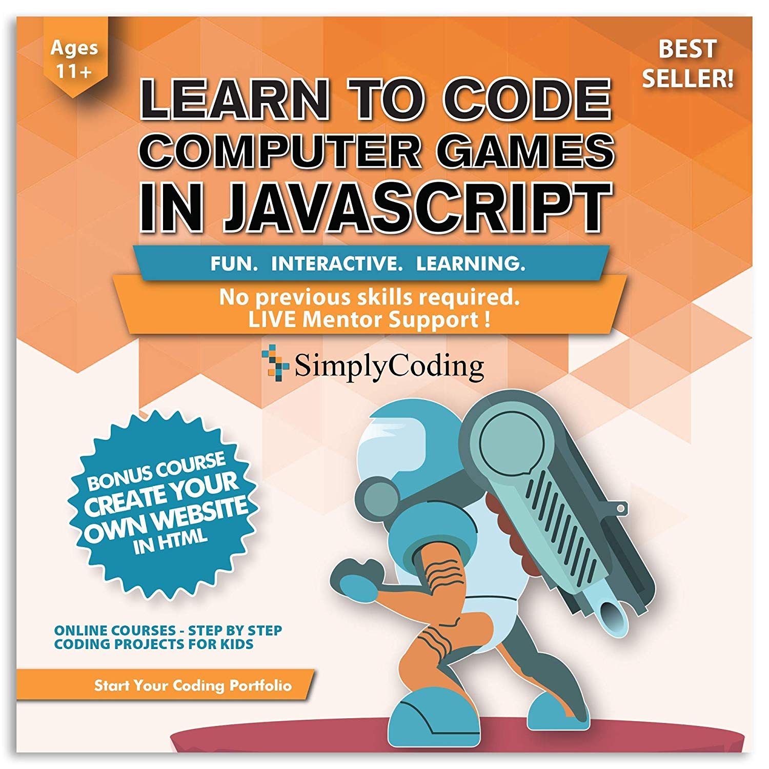 JavaScript Game Design Course from Simple Coding Becomes #1 Amazon Bestseller