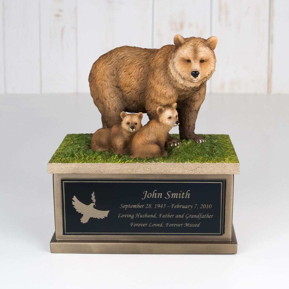 Perfect Memorials Develops Small Bear Cub Cremation Urn