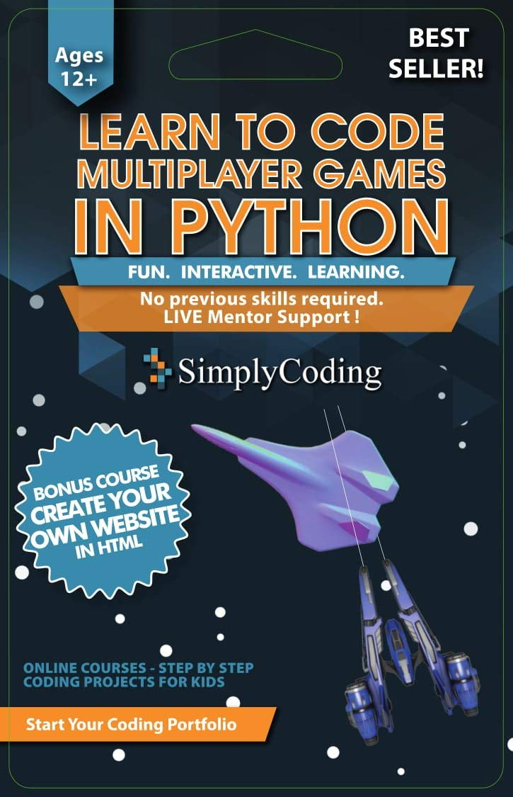 Simply Coding Python-Multiplayer Training Program becomes #1 Amazon Bestseller