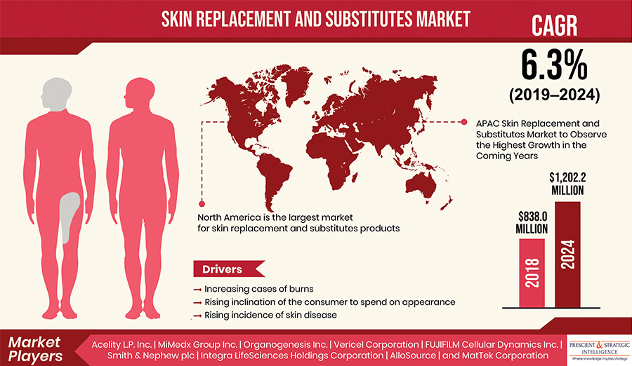 Skin Replacement and Substitutes Market to Observe the Highest Growth in the Coming Years