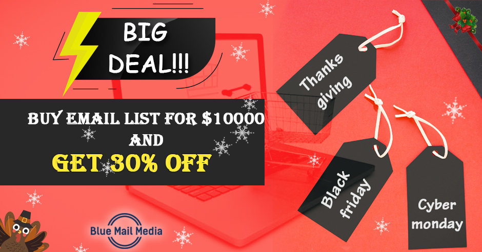 Blue Mail Media Unveils Interesting Offer for Thanksgiving, Black Friday & Cyber Monday