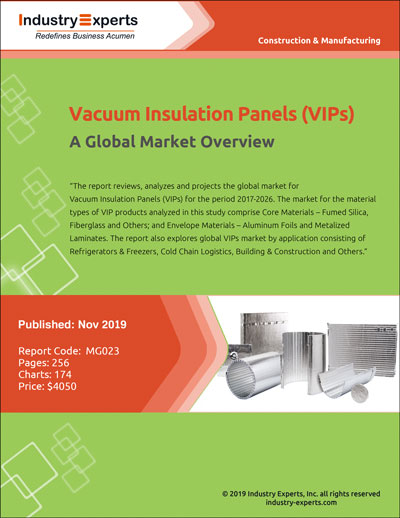 Demand for Vacuum Insulated Panels (VIPs) Market to Exceed 150 Mil SQMTS by 2026