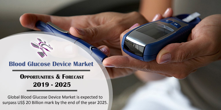 Global Blood Glucose Device Market is expected to surpass US$ 25 Billion mark by the end of the year 2025