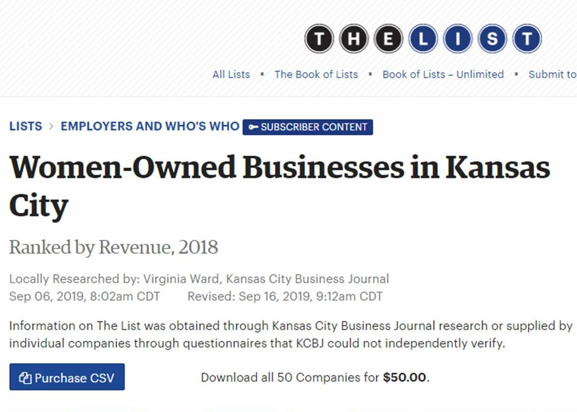 Delden Ranked in Top 50 Women-Owned Businesses by Kansas City Business Journal (KCBJ)
