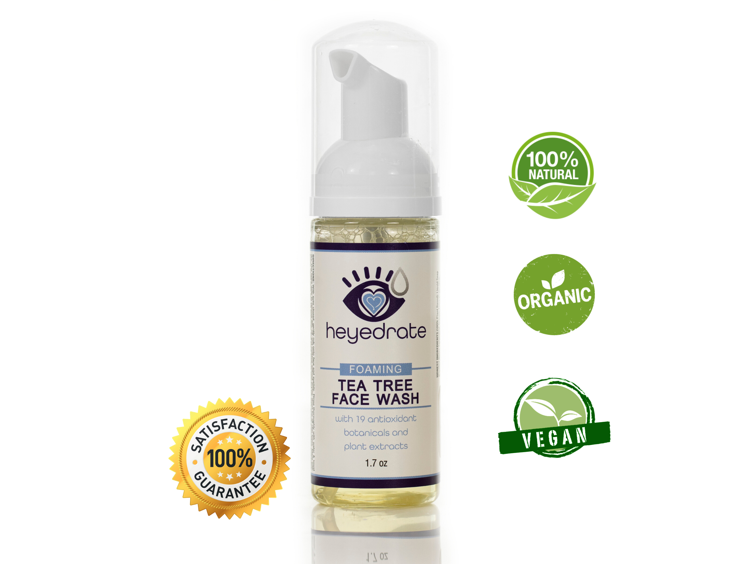 Eye Love announces the launch of their new foaming tea tree face wash and eyelid cleanser