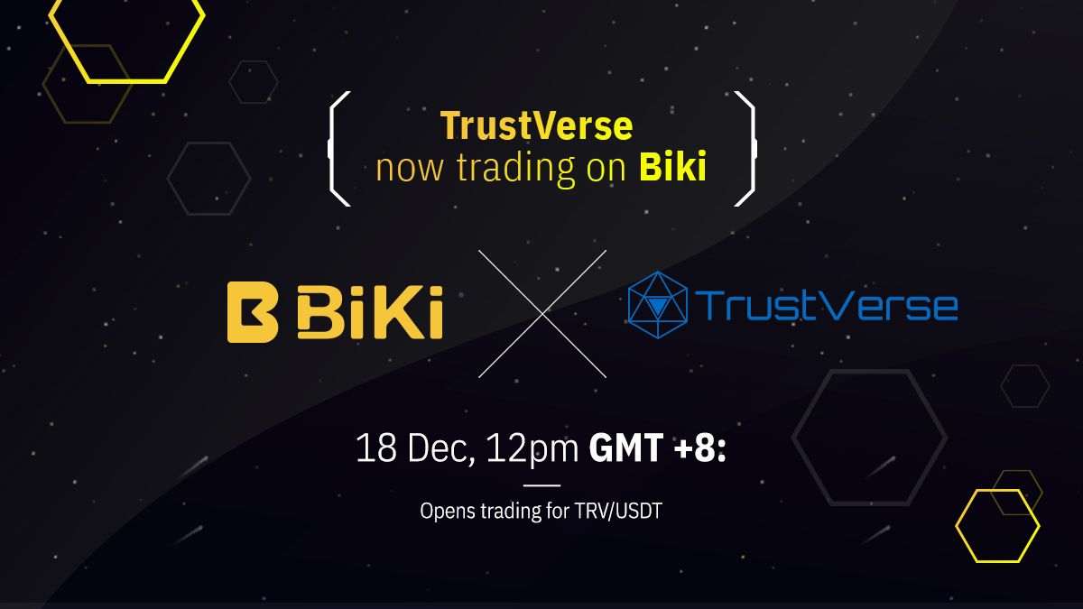 Trustverse Is Listing On BiKi Exchange Including Multiple Promotions For Users