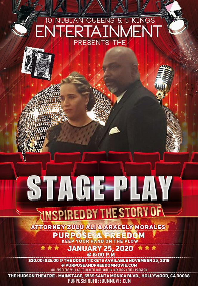 Fascinating Story of an African American Lawyer, Zulu Ali, and Undocumented Immigrant, Aracely Morales, Inspires A Stage Play with All Proceeds to Benefit Youth Mentoring Program