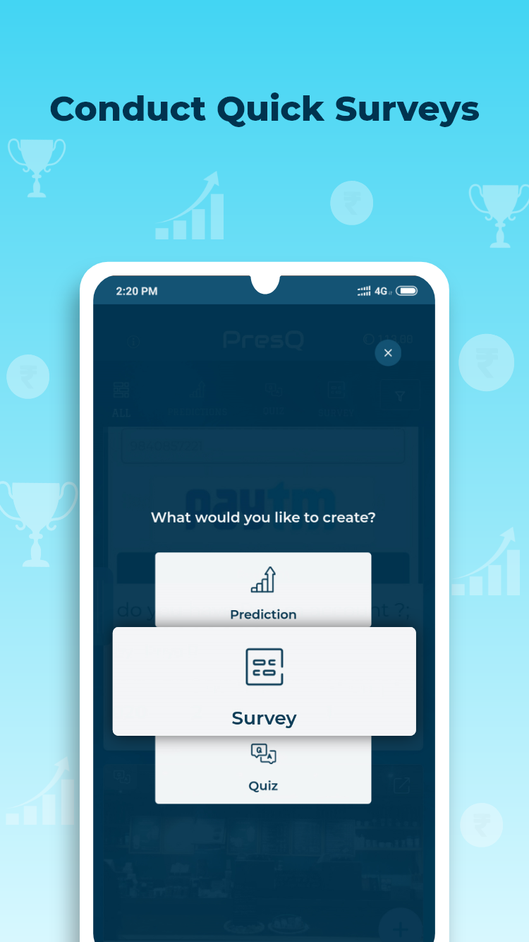 Get Rewarded For Sharing opinions on PresQ App